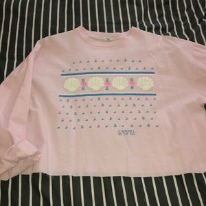 Tops - Vintage cropped long sleeve t-shirt